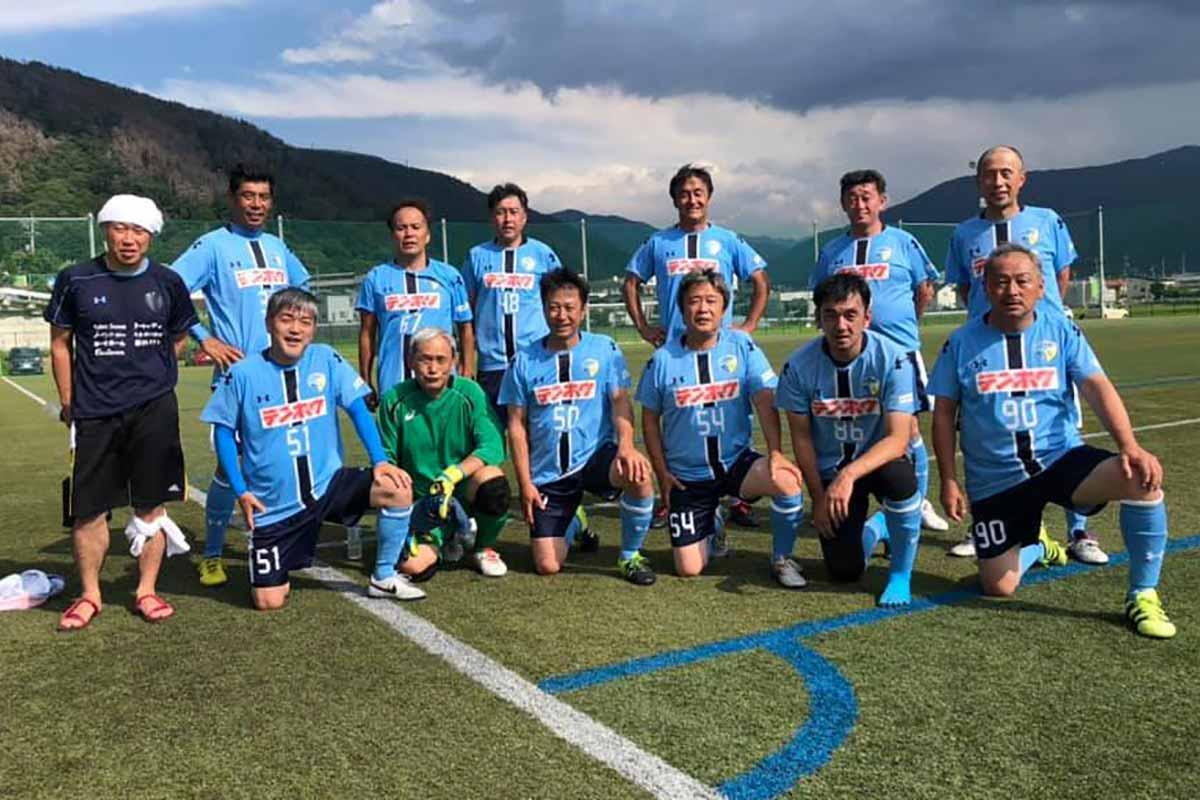 FCアビエス-2020長野県シニアサッカー50リーグ~第1節~集合写真-かりがねサッカー場