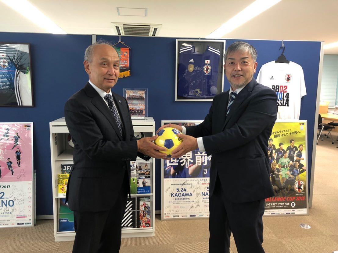 長野県サッカー協会よりボール寄贈(下諏訪町へ)
