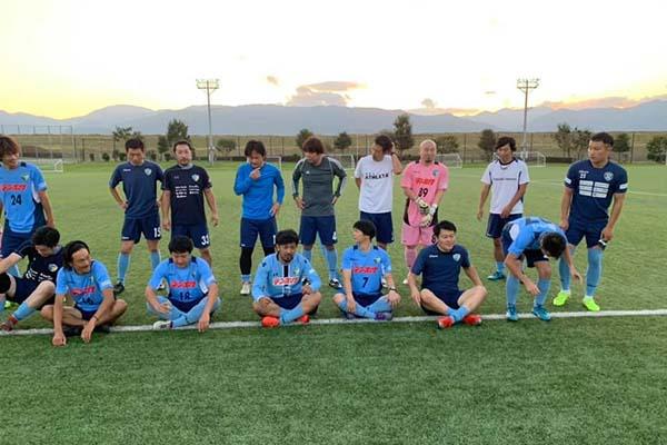 日本スポーツマスターズ2022サッカーFCアビエスシニア集合写真